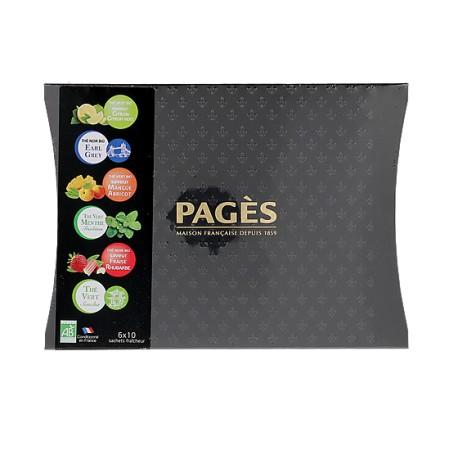 Coffret cartonné Thés bio Pagès (6x10 sachets)