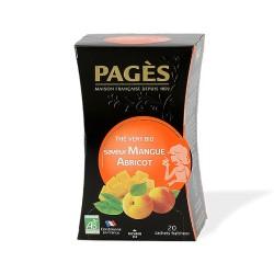 Thé vert bio Boîte de 20 sachets - 36g -saveur Mangue Abricot