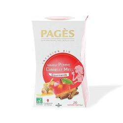 Infusion bio Gourmande Boîte de 20 sachets - 30g -Saveur Pomme Cannelle Miel