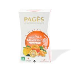 Infusion bio Acidulée saveur Yuzu Mandarine Boîte de 20 sachets - 30g